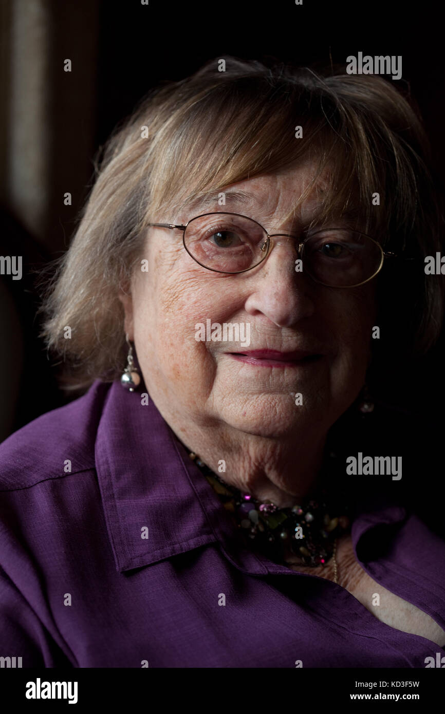 Holocaust survivor Iby Knill, author of The Women Without a Number' - Stock Image