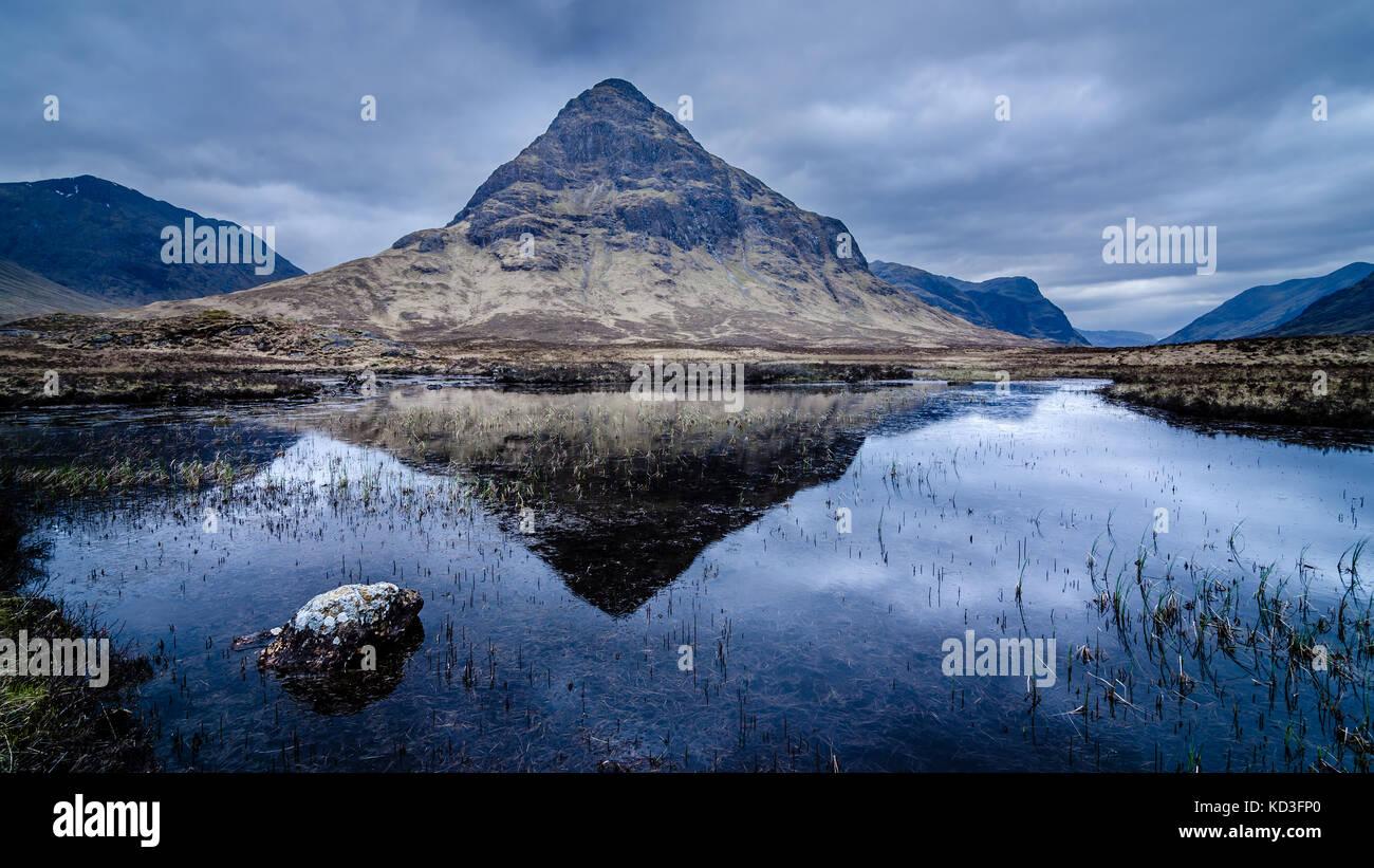 Buachille Etive Beag Glencoe Scotland - Stock Image