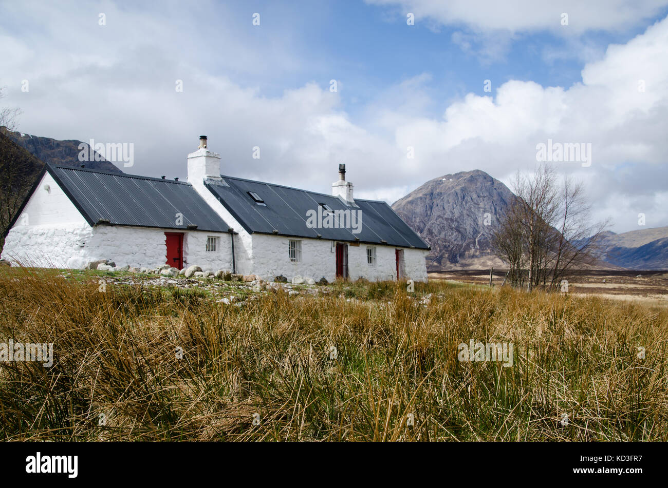 Black Rock cottage Glencoe Scotland - Stock Image