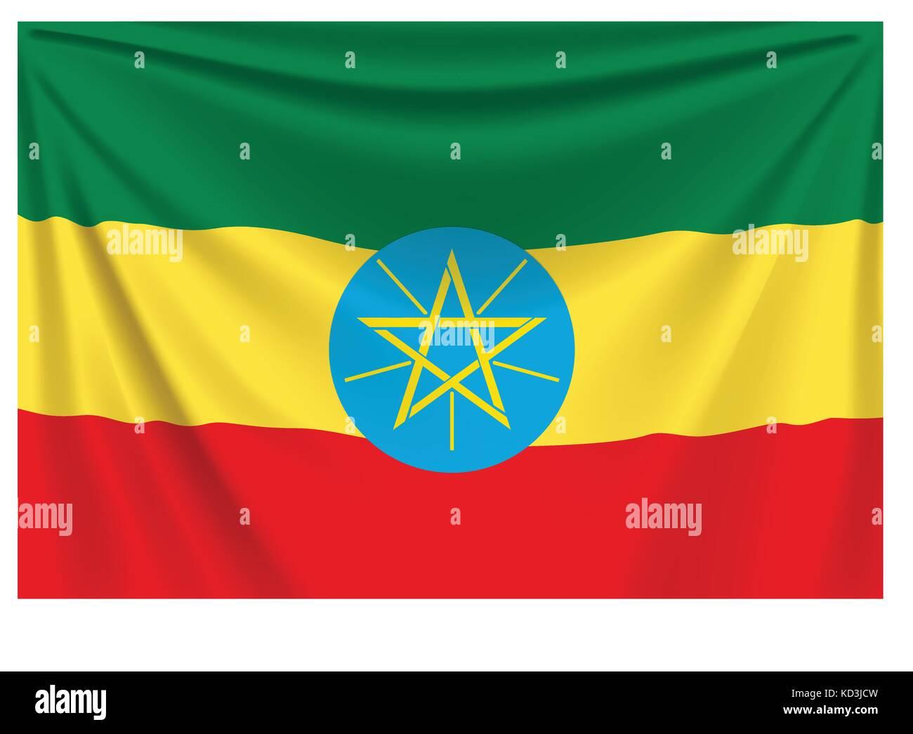 back flag ethiopia - Stock Vector