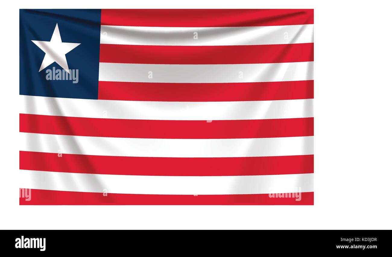 back flag liberia - Stock Image
