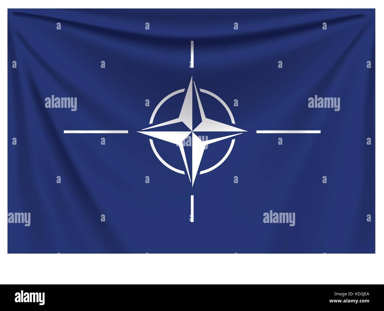 back flag nato Stock Vector