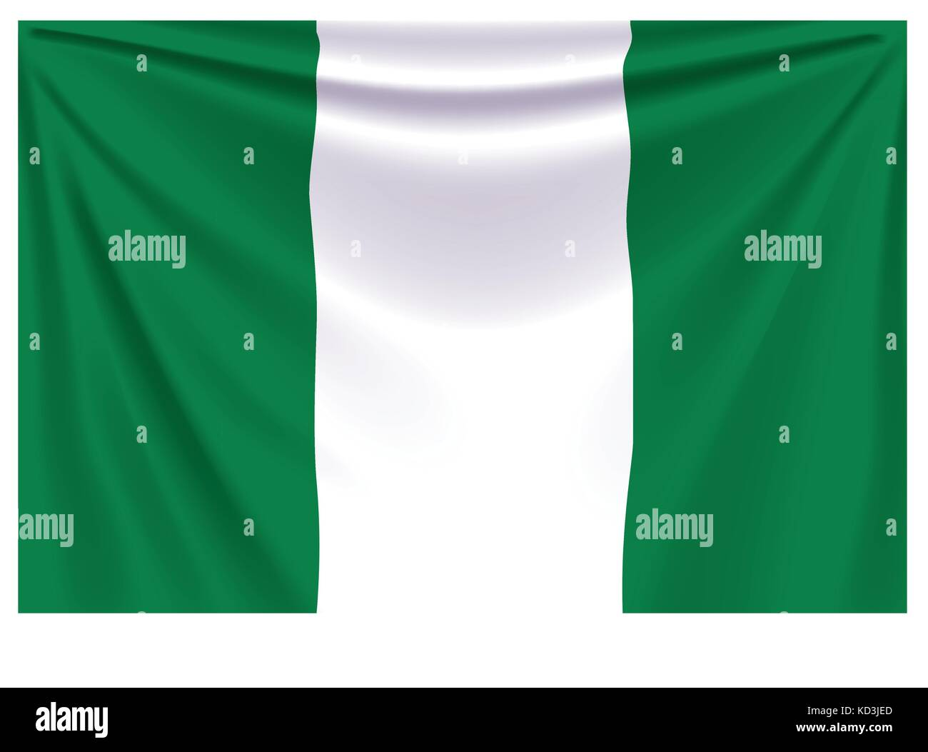 back flag nigeria - Stock Vector