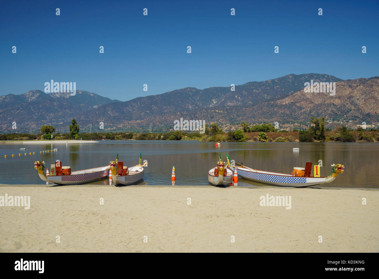 Dragon Boat At Santa Fe Dam Recreation Area Los Angeles County Stock Photo Alamy