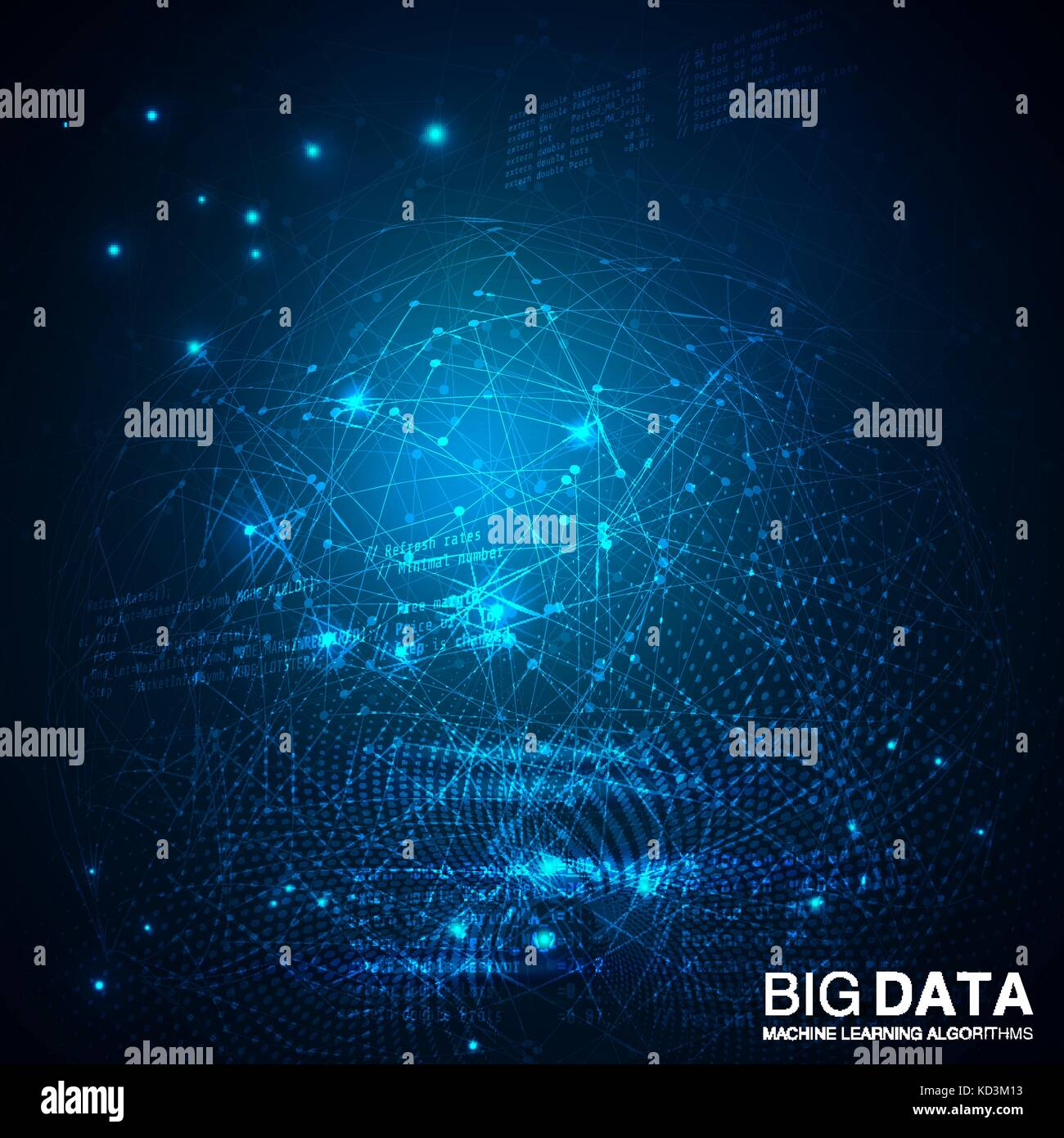 Big data visualization. Futuristic infographic. - Stock Image