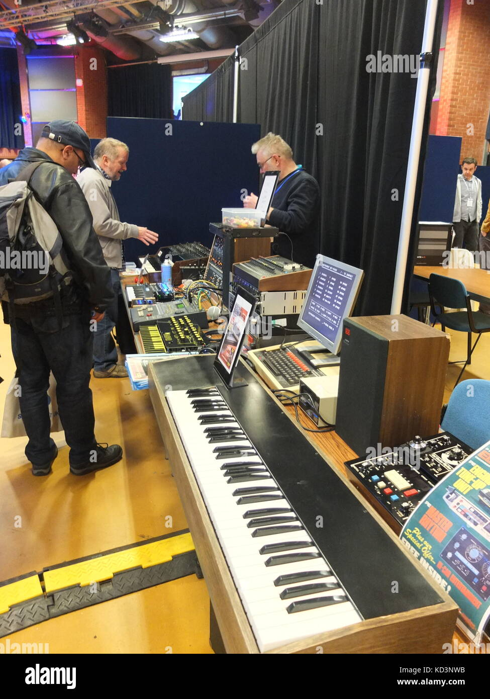 Electronic music technology on display at Synthfest UK, The Octagon Centre, University of Sheffield (part of Sensoria - Stock Image