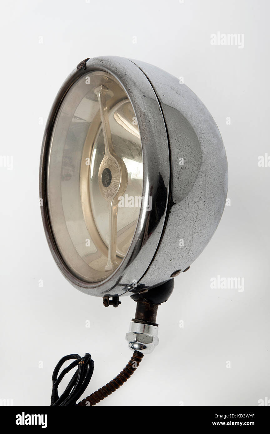 Lucas Bi-flex long range electric headlight 1920's - Stock Image