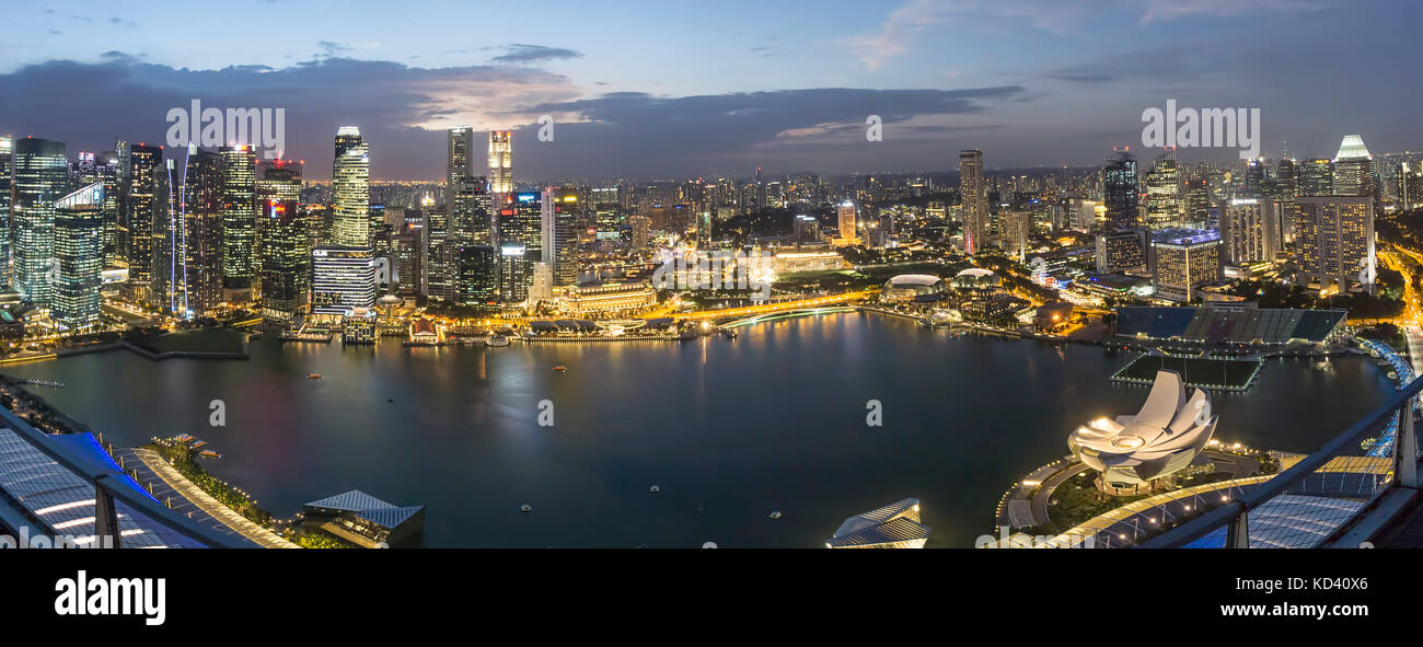 Skyline,  Marina Bay, Singapore, Singapur, Southeast Asia,Stock Photo