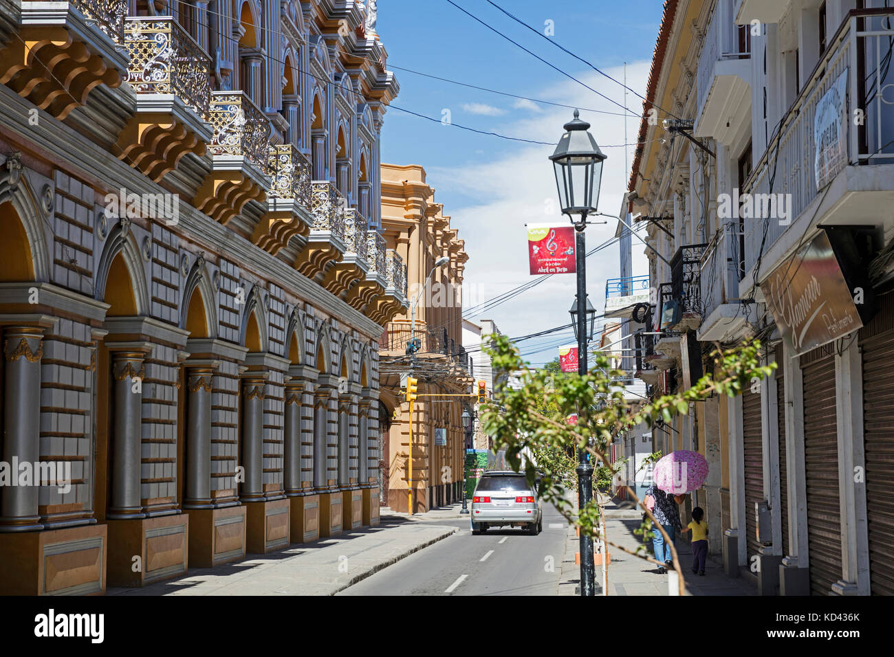 The Gilded House / Casa Dorada, museum in the city Tarija, Cercado, southern Bolivia - Stock Image