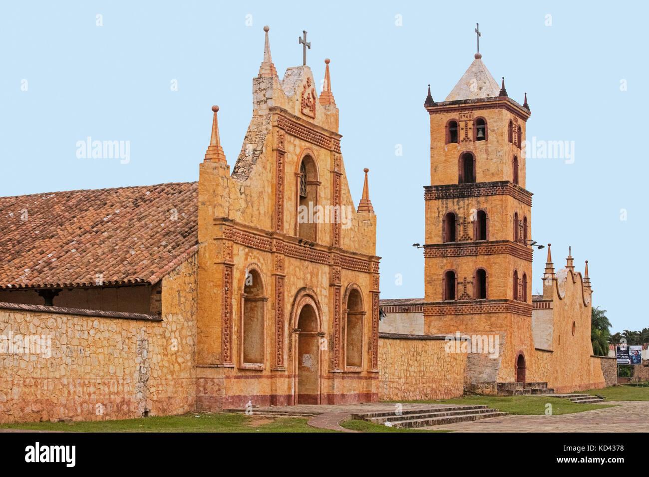 The Jesuit Mission church of San José de Chiquitos, Chiquitos Province, Santa Cruz, Bolivia - Stock Image