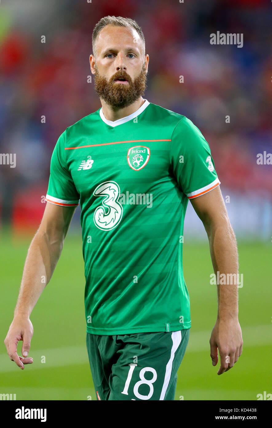 Republic Of Ireland S David Meyler Ahead The 2018 Fifa World Cup Qualifying Group D Match At Cardiff City Stadium Press Association Photo