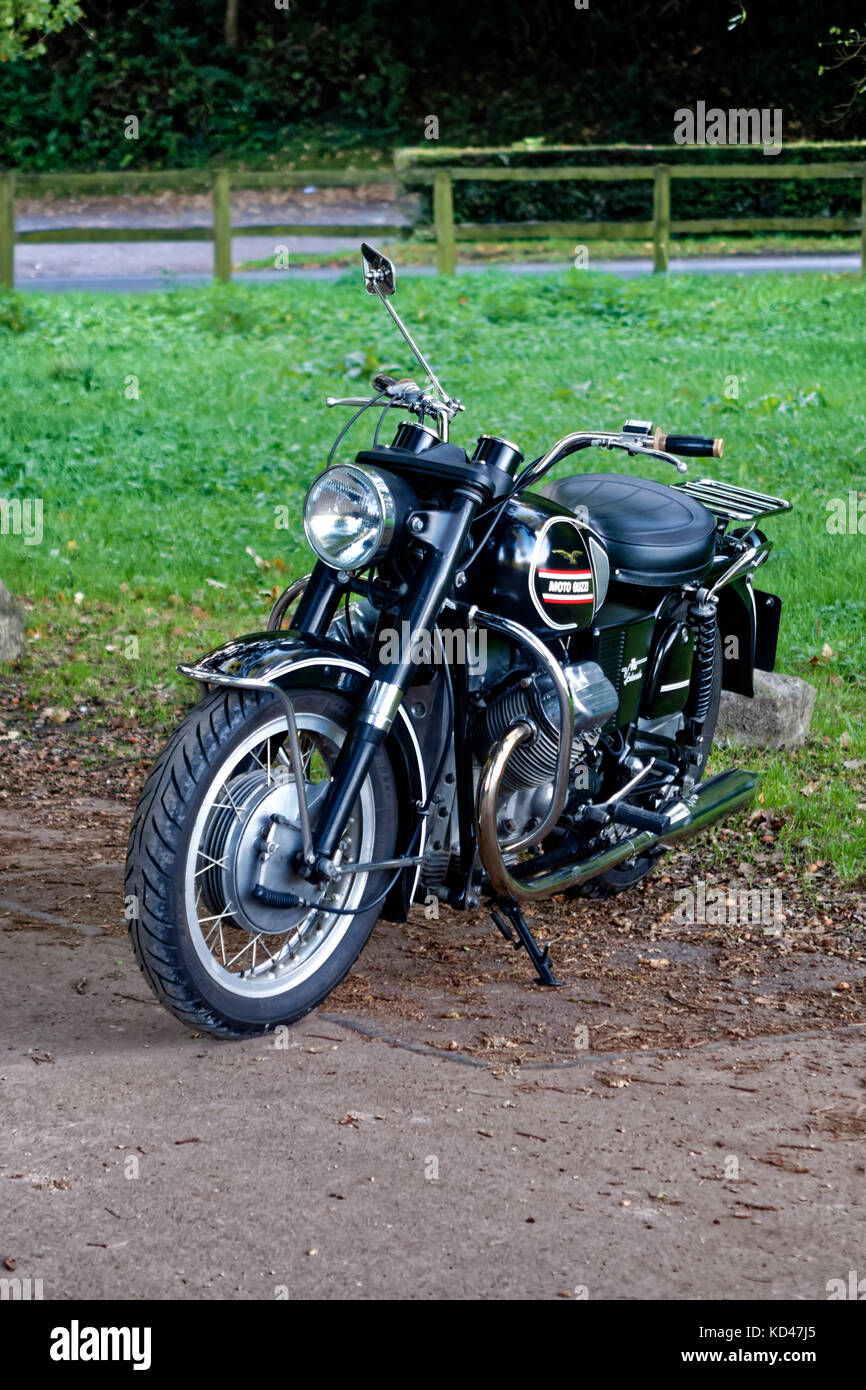 A 1970 Moto Guzzi V750 Ambassador Classic Motorcycle - Stock Image