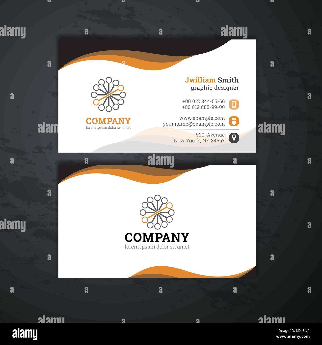 Vector abstract creative business cards Stock Vector Art ...