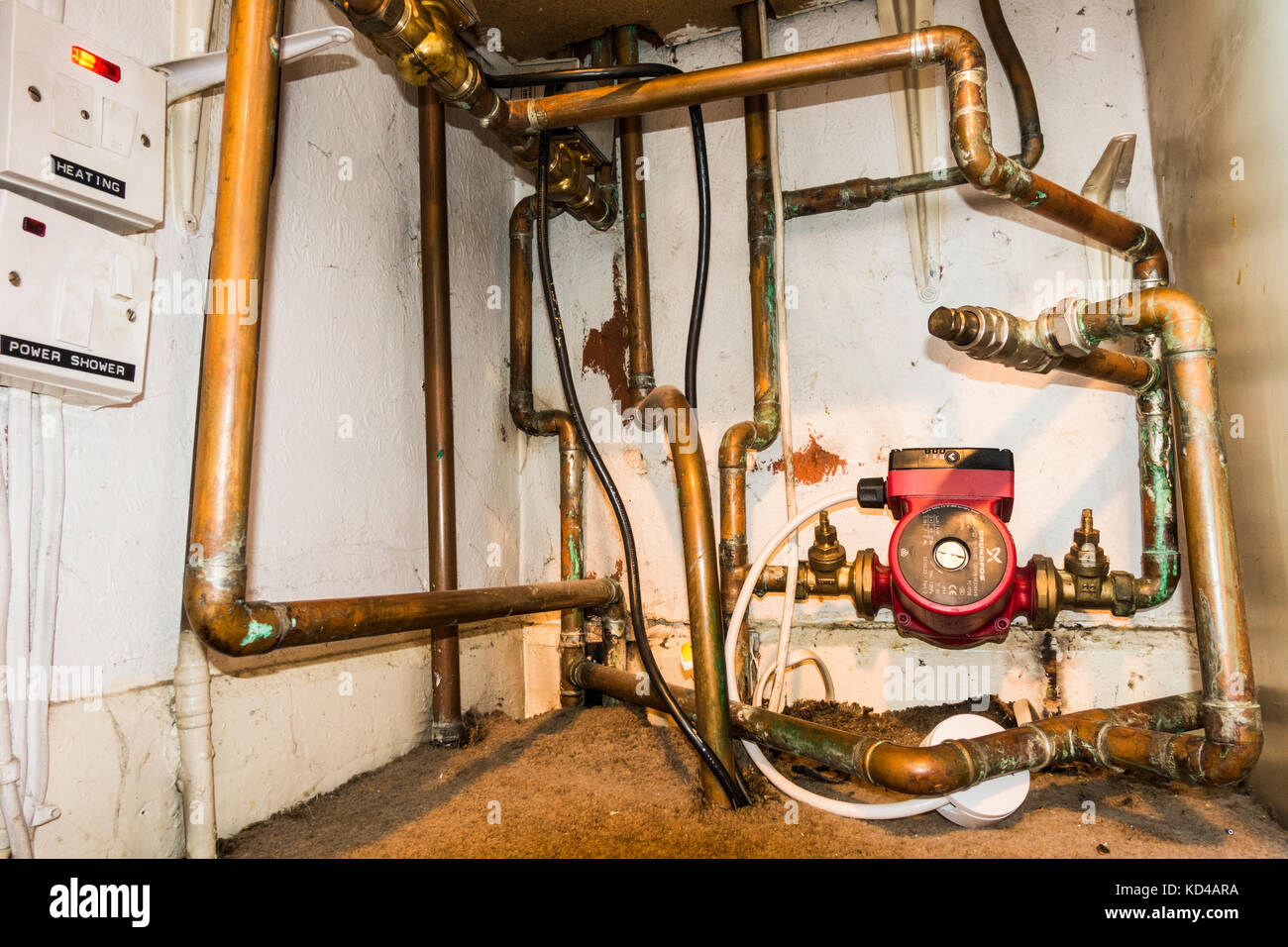 Interconnect Stock Photos Images Alamy Wiring Electric Shower Domestic Installation Of A Central Heating System With Wide View Pump And