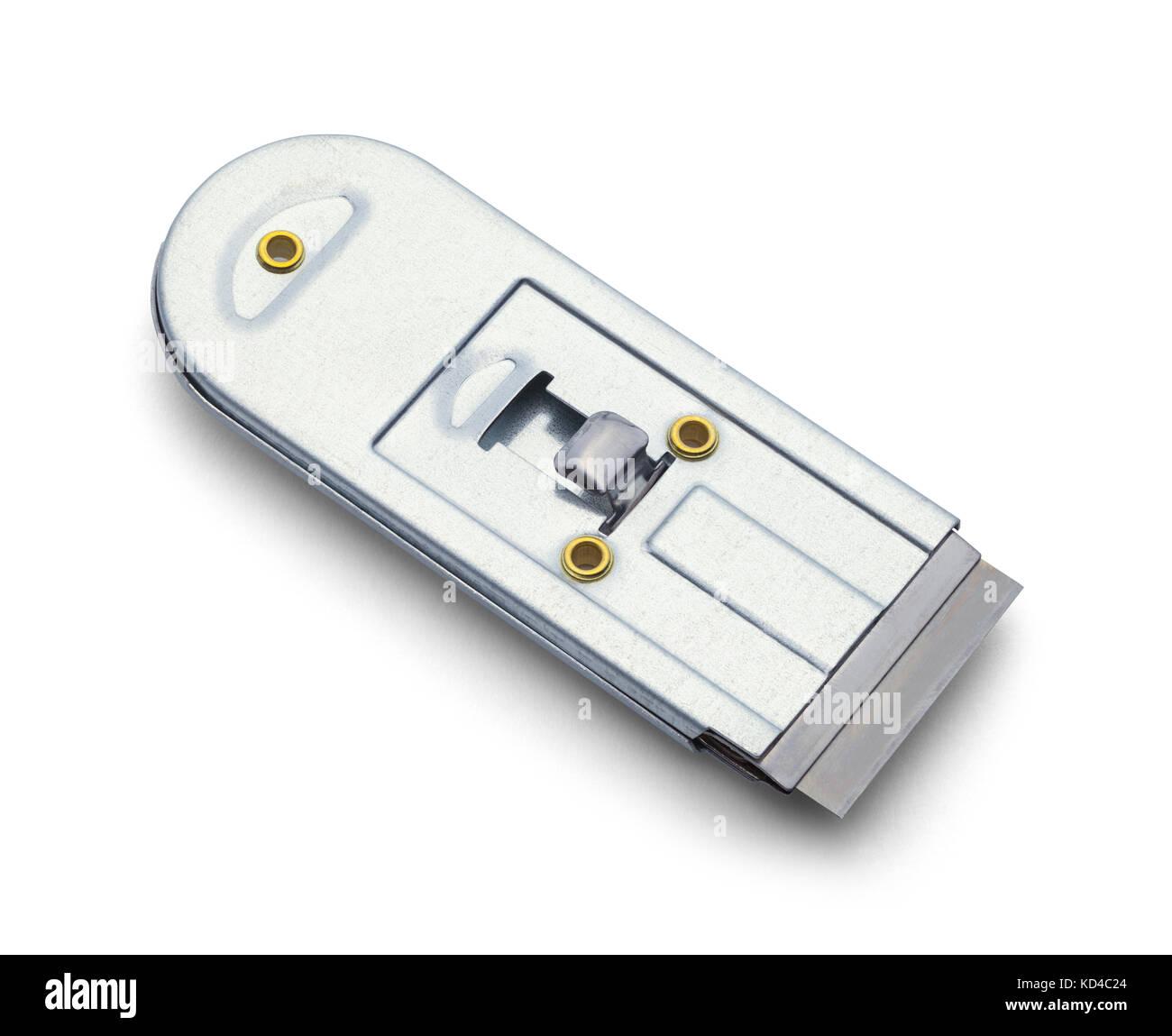 Razor Blade Holder Isolated on a White Background. - Stock Image