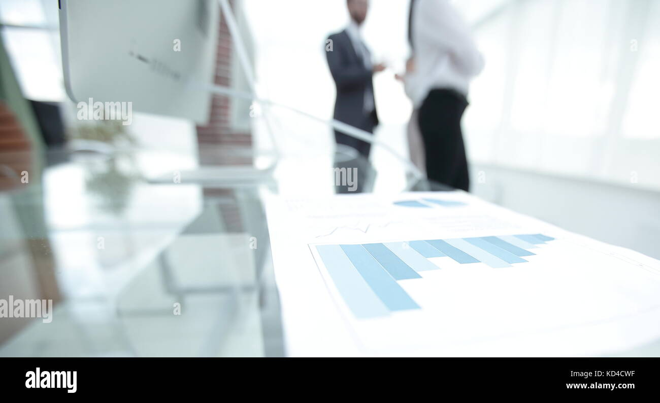 Blurred Image Of The Desktop In The Office Business Background