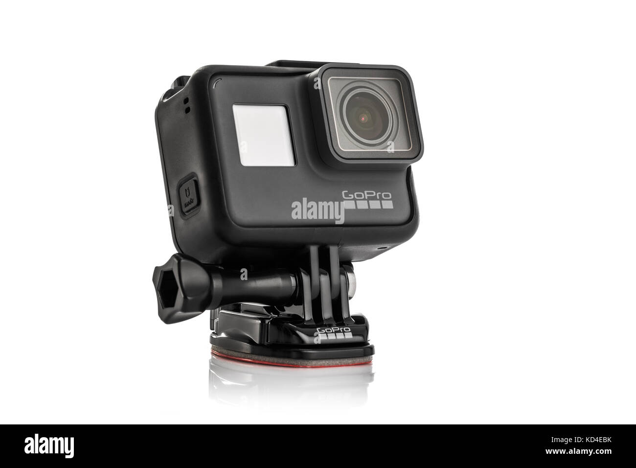 Varna, Bulgaria - March 9, 2017: GoPro Hero 5 Black isolated on white background.manufactured by GoPro Inc - Stock Image