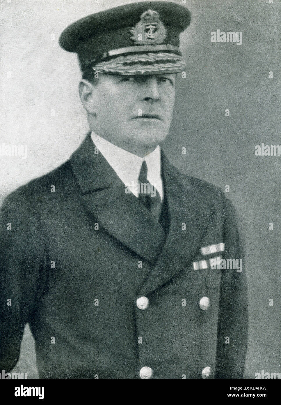 Sir David Beatty, who commanded the British battle cruiser squadron at the Battle of Jutland, considered the only - Stock Image