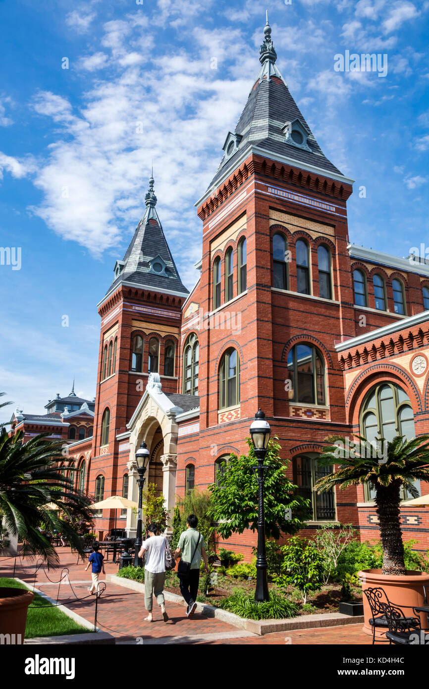 Washington DC District of Columbia National Mall Arts and Industries Building exterior tower facade museum - Stock Image