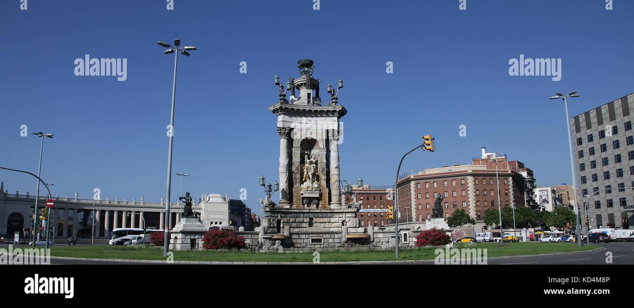 Plaza de España Barcelona Catalunia Spain - Stock Image
