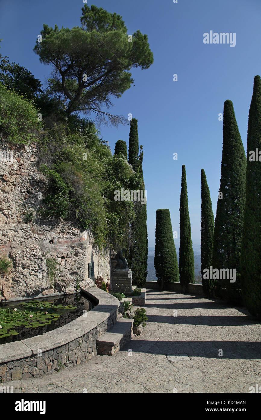 Els Degotalls walking path at Montserrat mountain near Barcelona Catalunia Spain Stock Photo