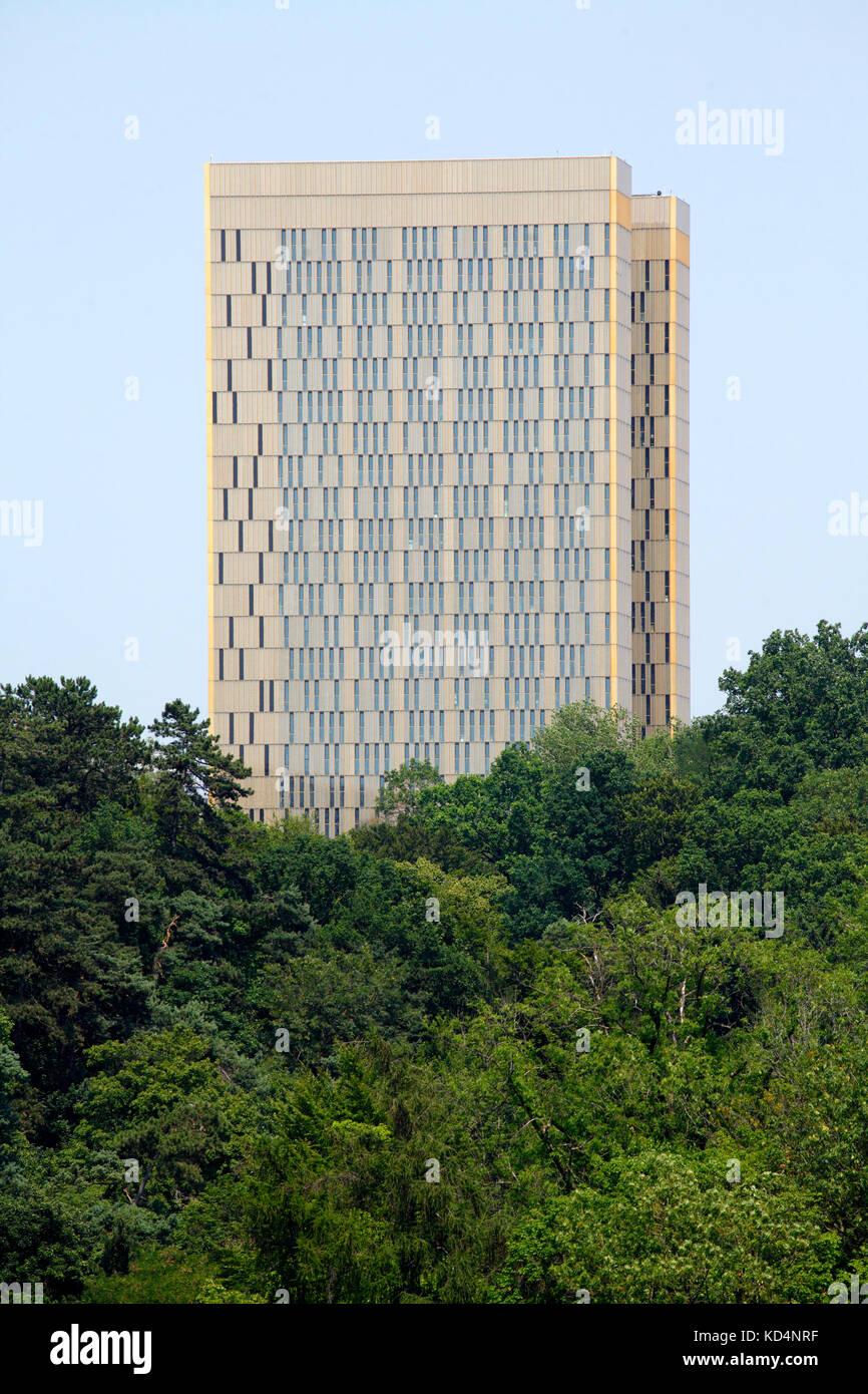 European Court of Justice, EU building, Kirchberg, European Centre, Luxembourg City, Luxembourg, Europe - Stock Image