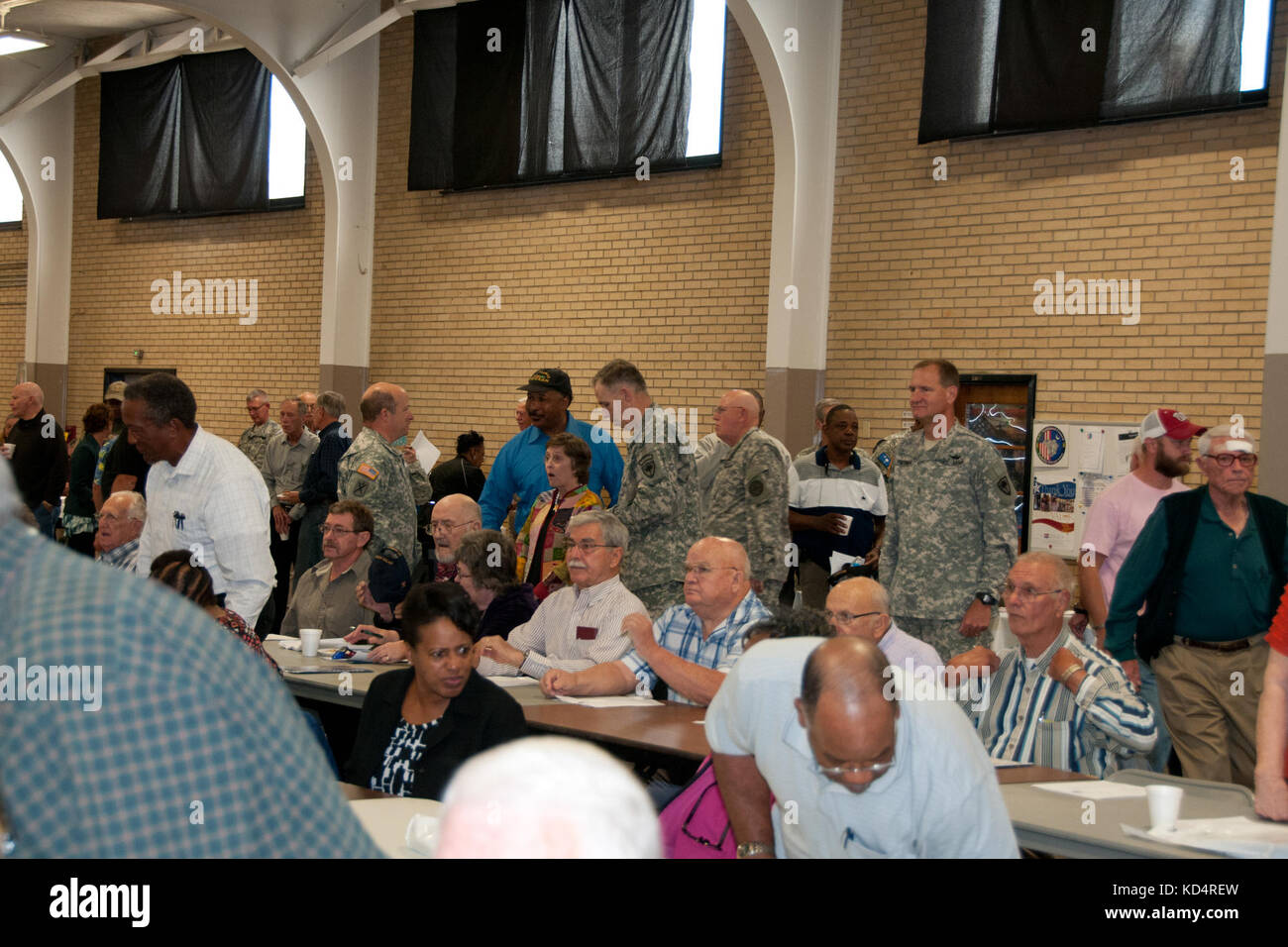 More than 500 South Carolina National Guard retirees gathered Nov. 6, 2014, at the Bluff Road Armory, Columbia, - Stock Image