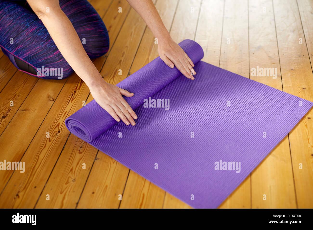 Yoga Mat - Stock Image