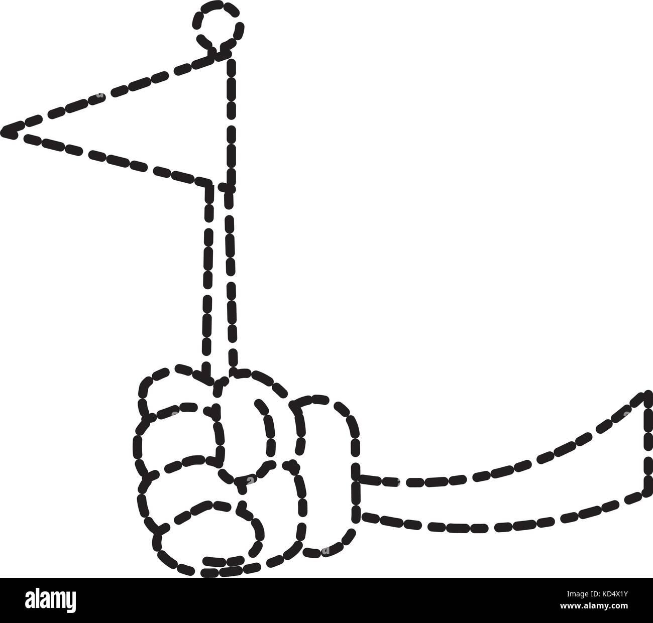 National flag symbol - Stock Image
