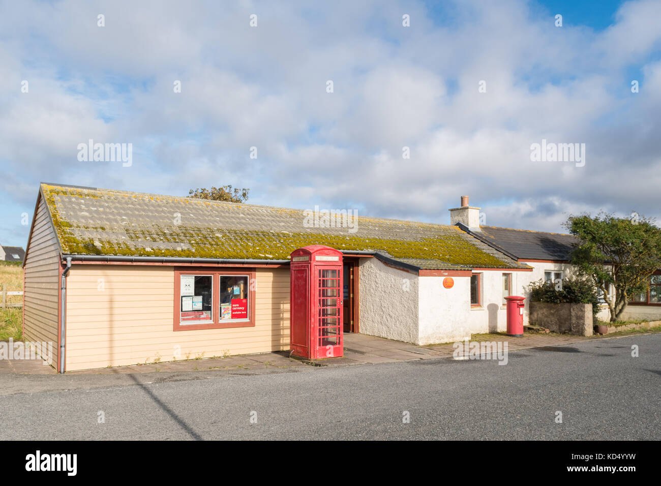 Baltasound Post Office, Unst, Shetland Islands, Scotland - Britain's most northerly post office - Stock Image