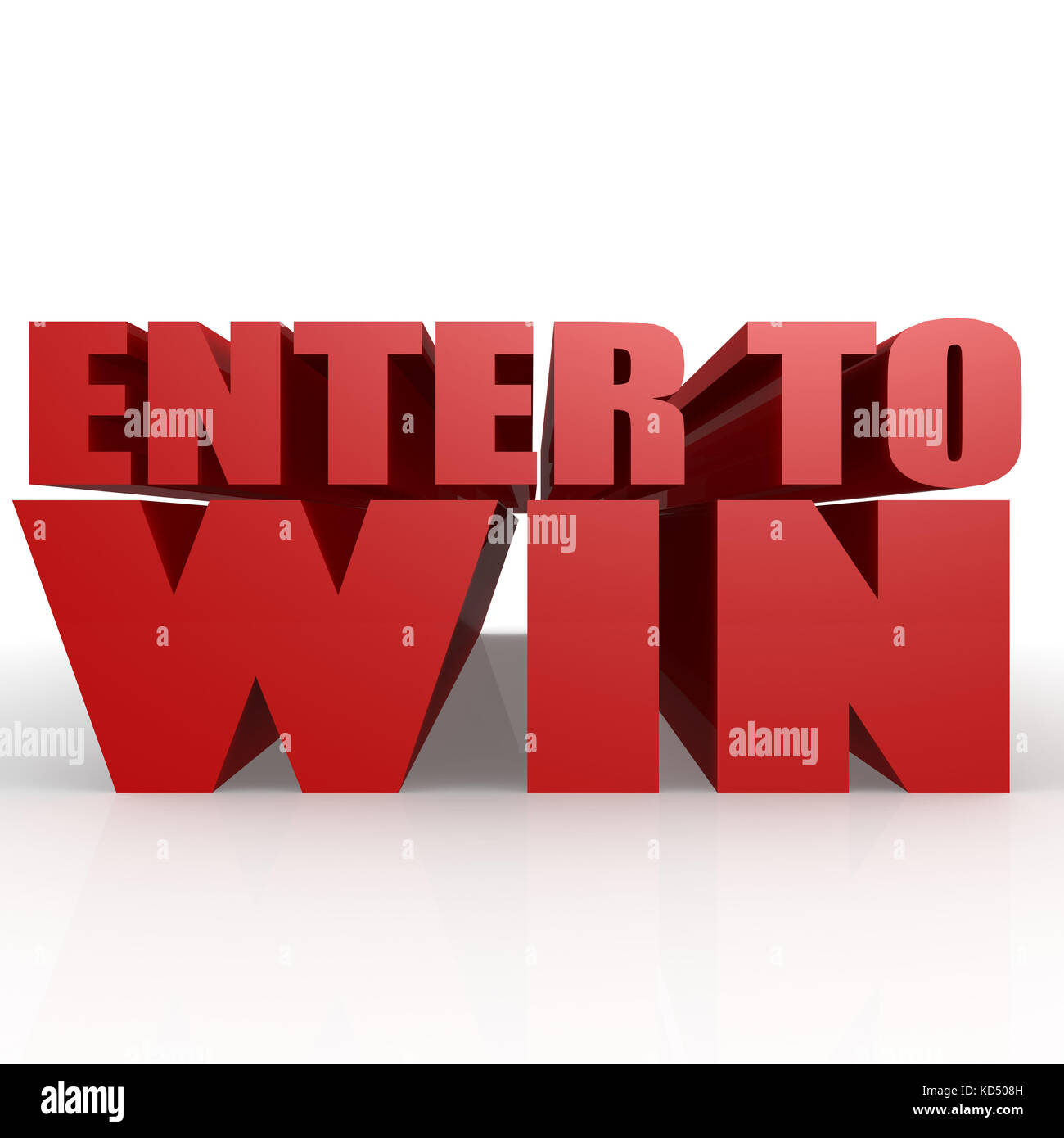 Enter to win image with hi-res rendered artwork that could be used for any graphic design. - Stock Image