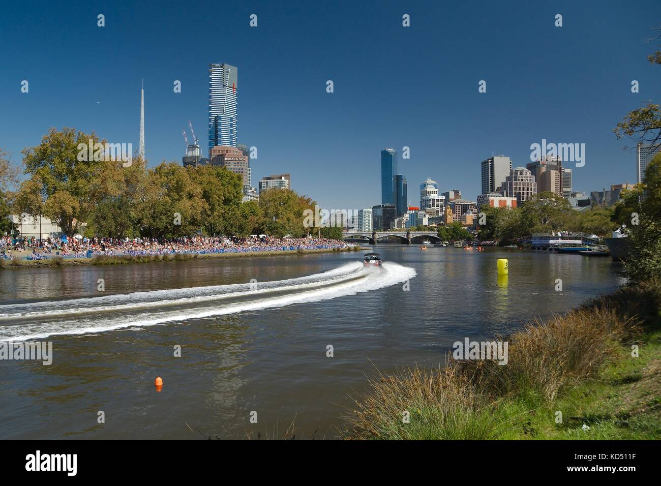 Melbourne city event Stock Photo