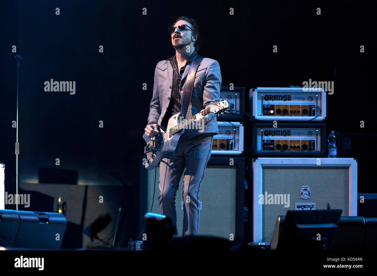 1bcdf38f5821 Rival Sons perform live on stage at the Esprit Arena on October 8, 2017 in  Dusseldorf, Germany.
