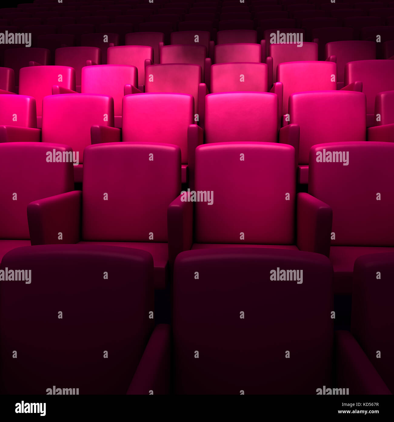 Empty cinema auditorium - Stock Image