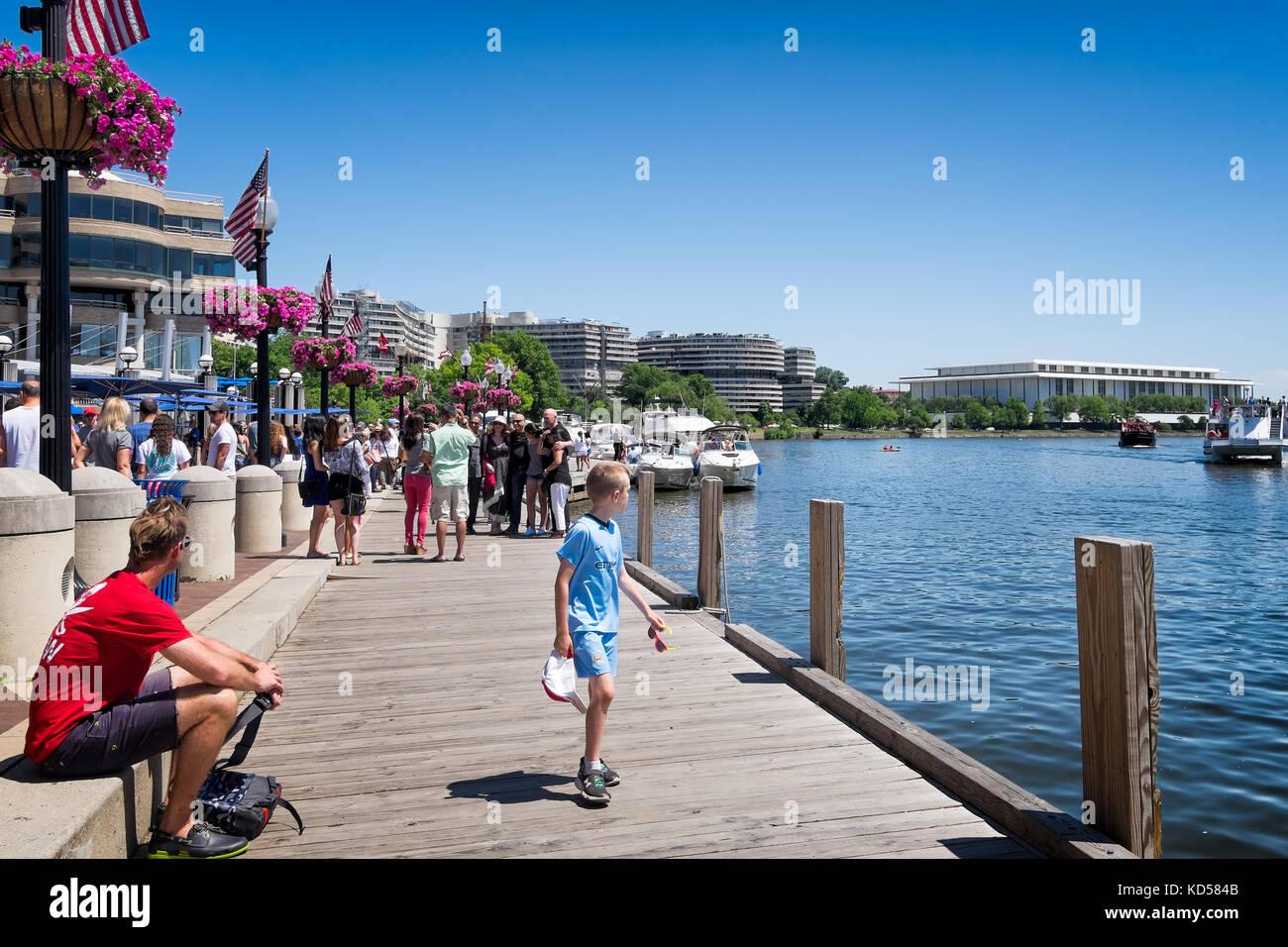 Washington Dc May 24 2015 Georgetown Waterfront Dock