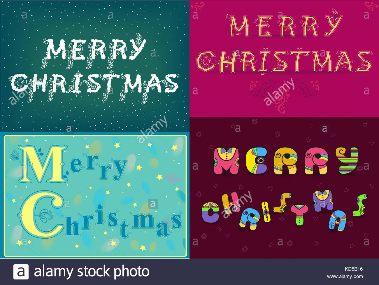 Vintage Christmas Cards Stock Vector Images Alamy