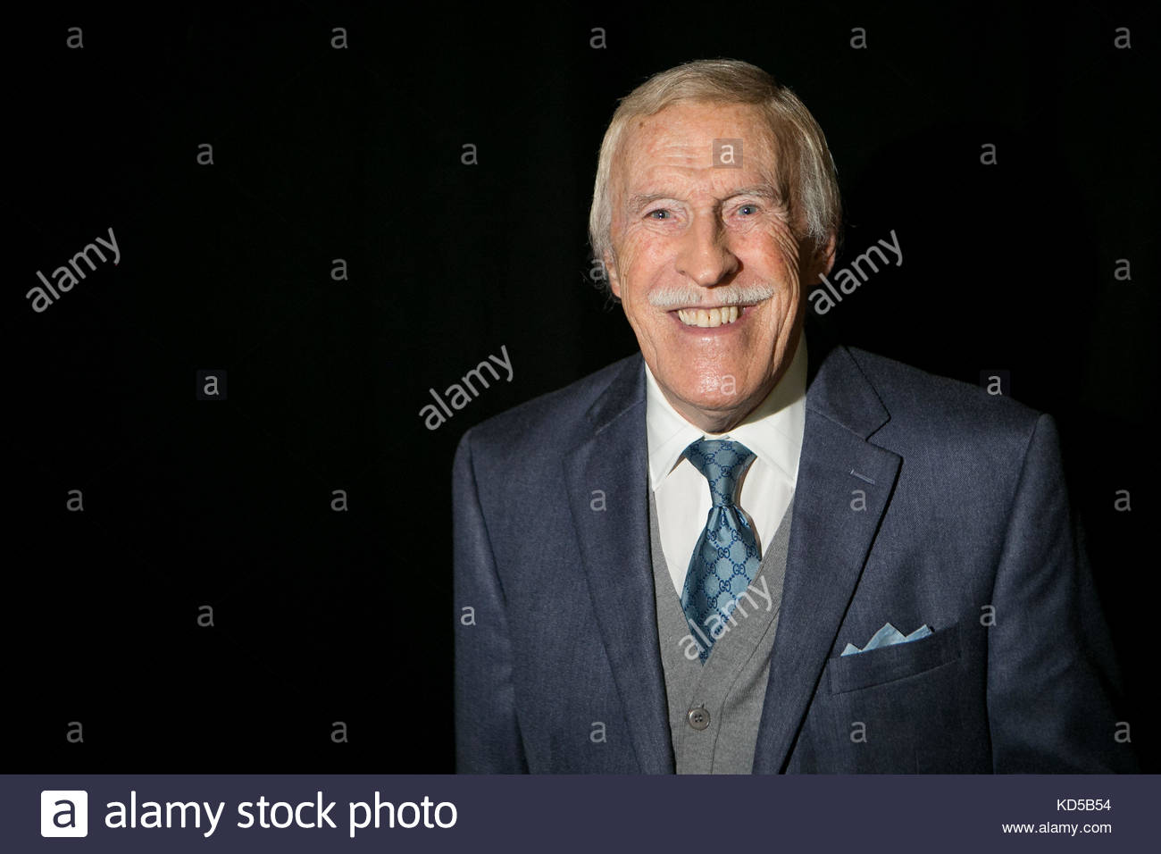 File photo dated 27/09/2015 of The late entertainer Sir Bruce Forsyth will be remembered at the National Television - Stock Image