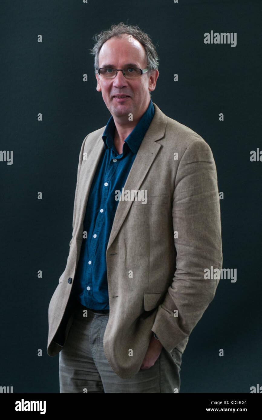 Volker Kutscher attends a photocall during the Edinburgh International Book Festival on August 12, 2017 in Edinburgh, Stock Photo