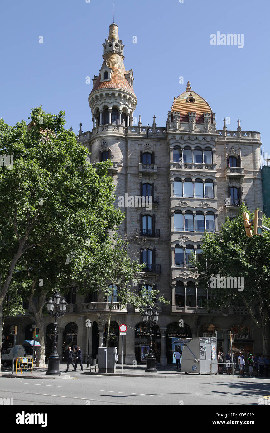 Casa Rocamora.designed by Bonaventura and Joaquim Basegoda in Barcelona Catalunya Spain - Stock Image