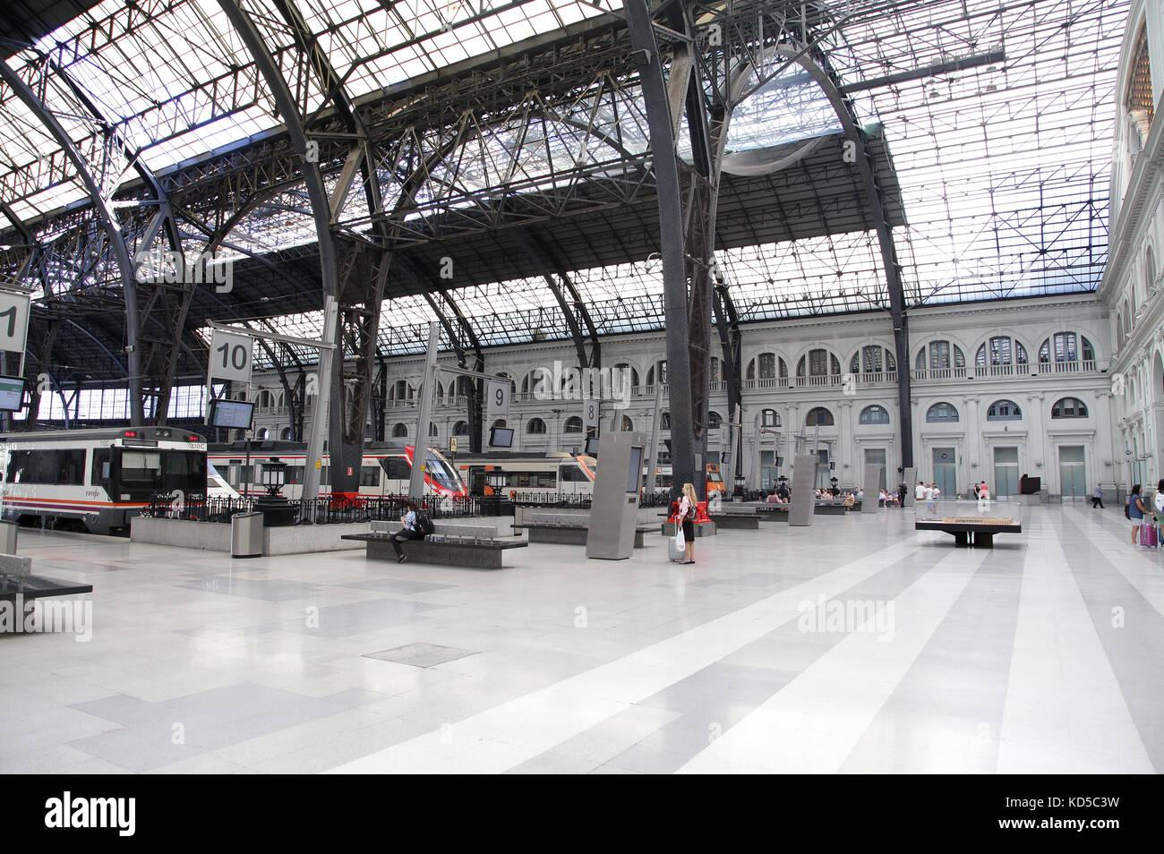Estacio de Franca - Barcelona Franca Train Station in  Barcelona Catalunya Spain - Stock Image