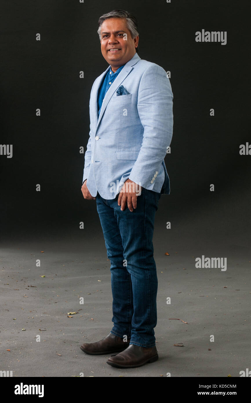 London-based Indian chef, restaurateur, and media personality Vivek Singh attends a photocall during the Edinburgh - Stock Image