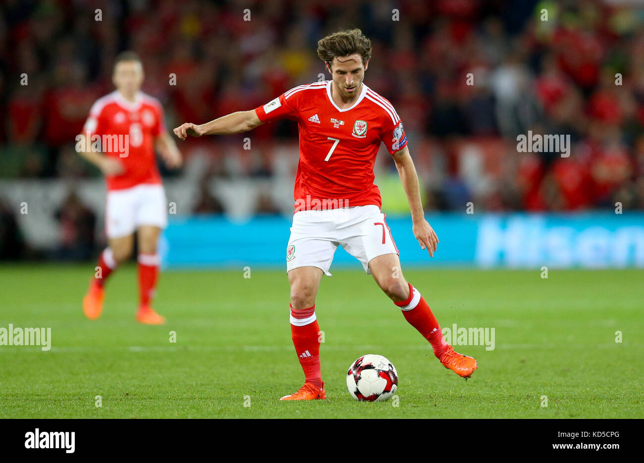 Wales Joe Allen During The 2018 Fifa World Cup Qualifying Group D Match At Cardiff City Stadium Press Association Photo