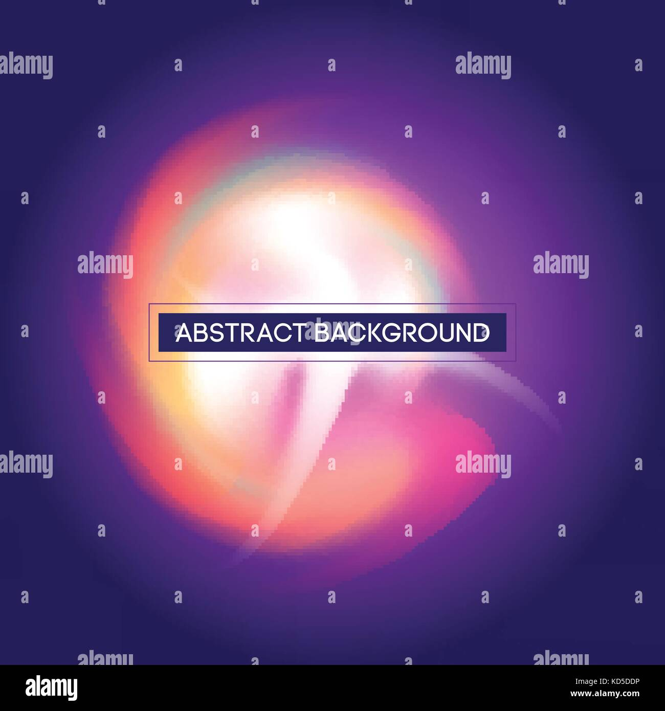 Smooth Flowing Curved Light Colorful Lines on Purple Vector Background - Stock Image