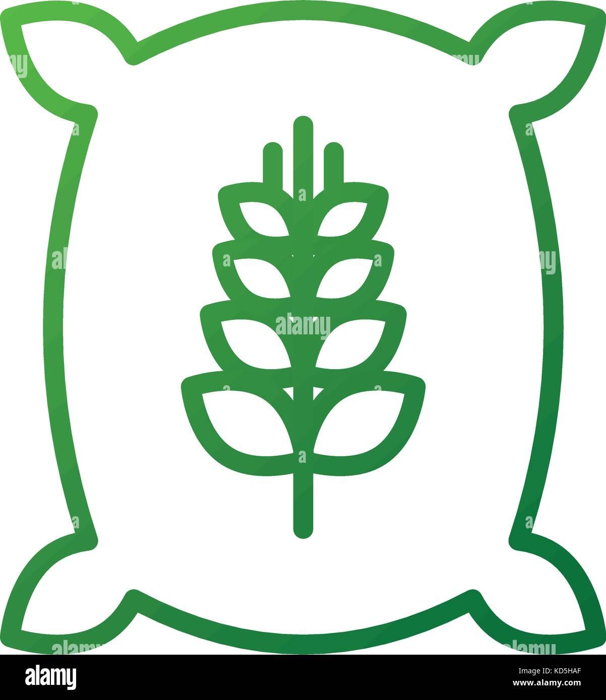 sack bag of wheat flour grain farm - Stock Image