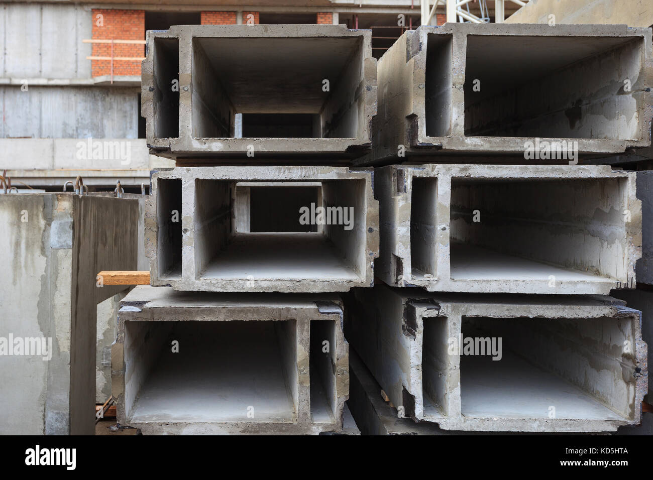 Storage of building materials Stock Photo