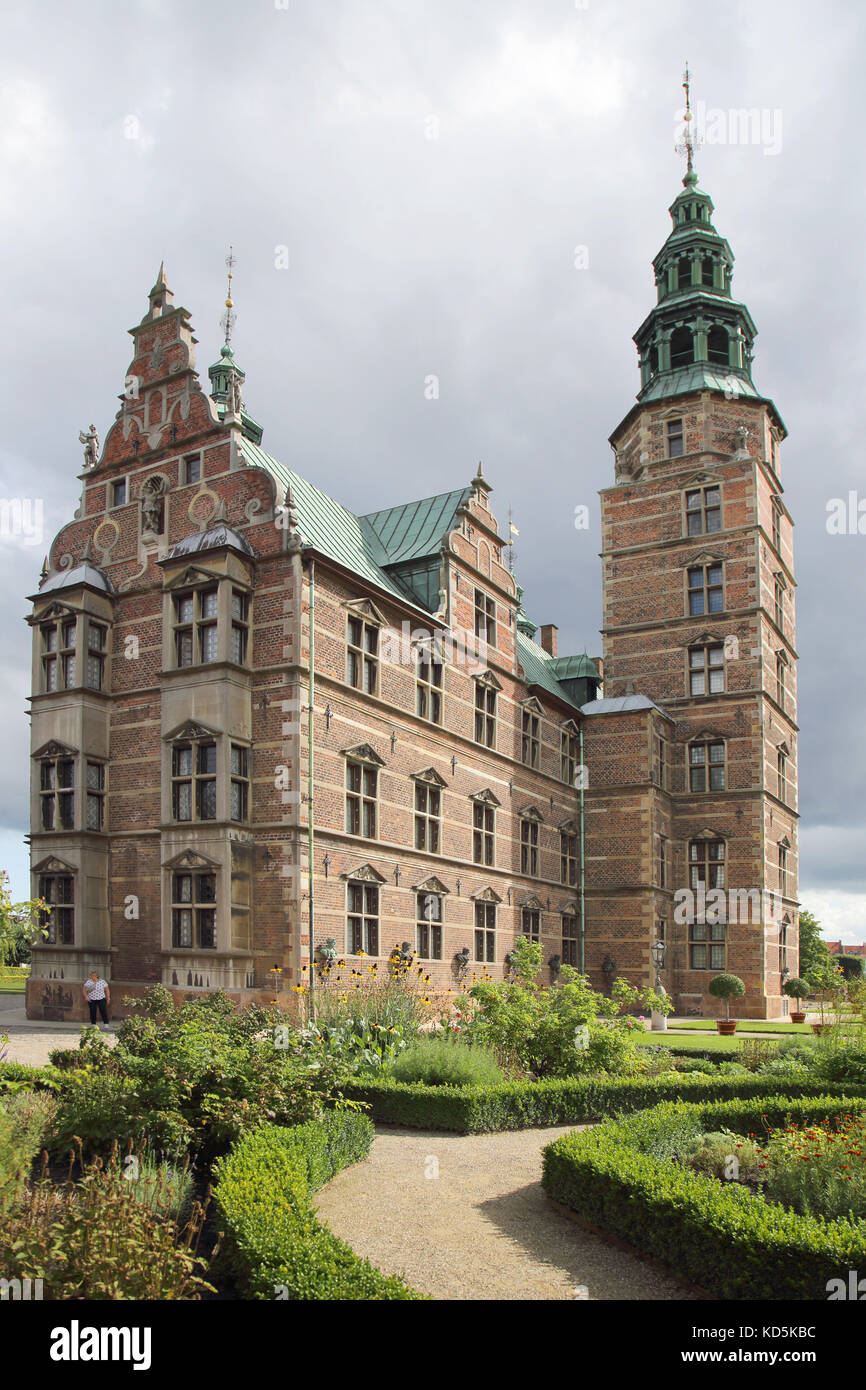 rosenborg slot and the home of the danish crown jewels copenhagen denmark - Stock Image