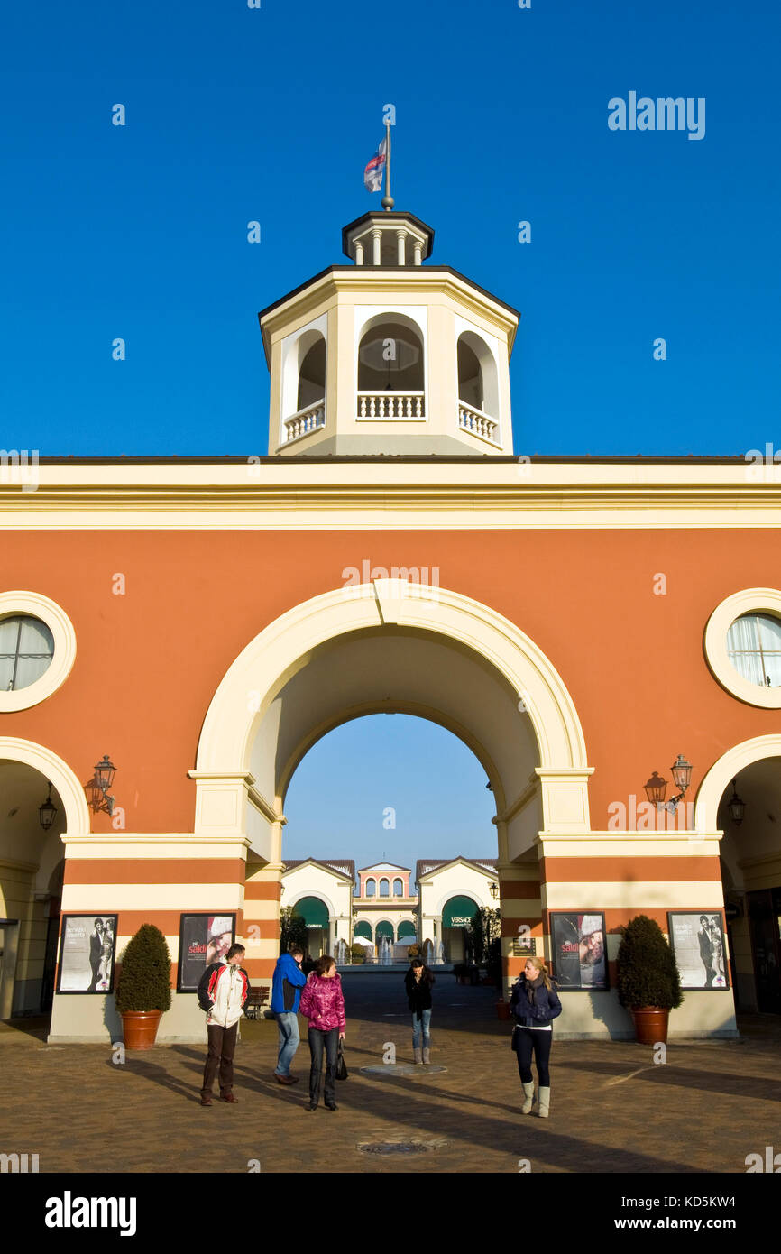 Designer outlet, Serravalle Scrivia, Piedmont, Italy Stock Photo ...