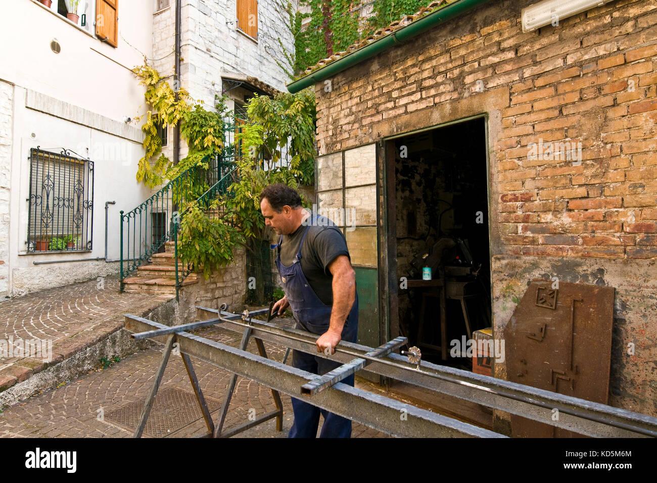 Blacksmith, Sirolo, Italy - Stock Image