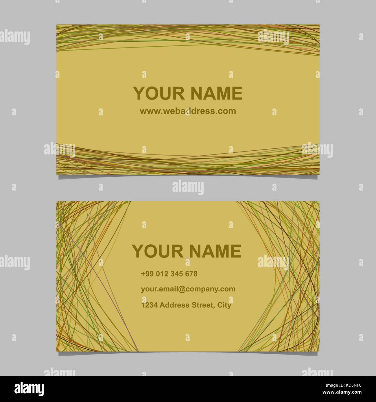 Colored Business Card Design Set