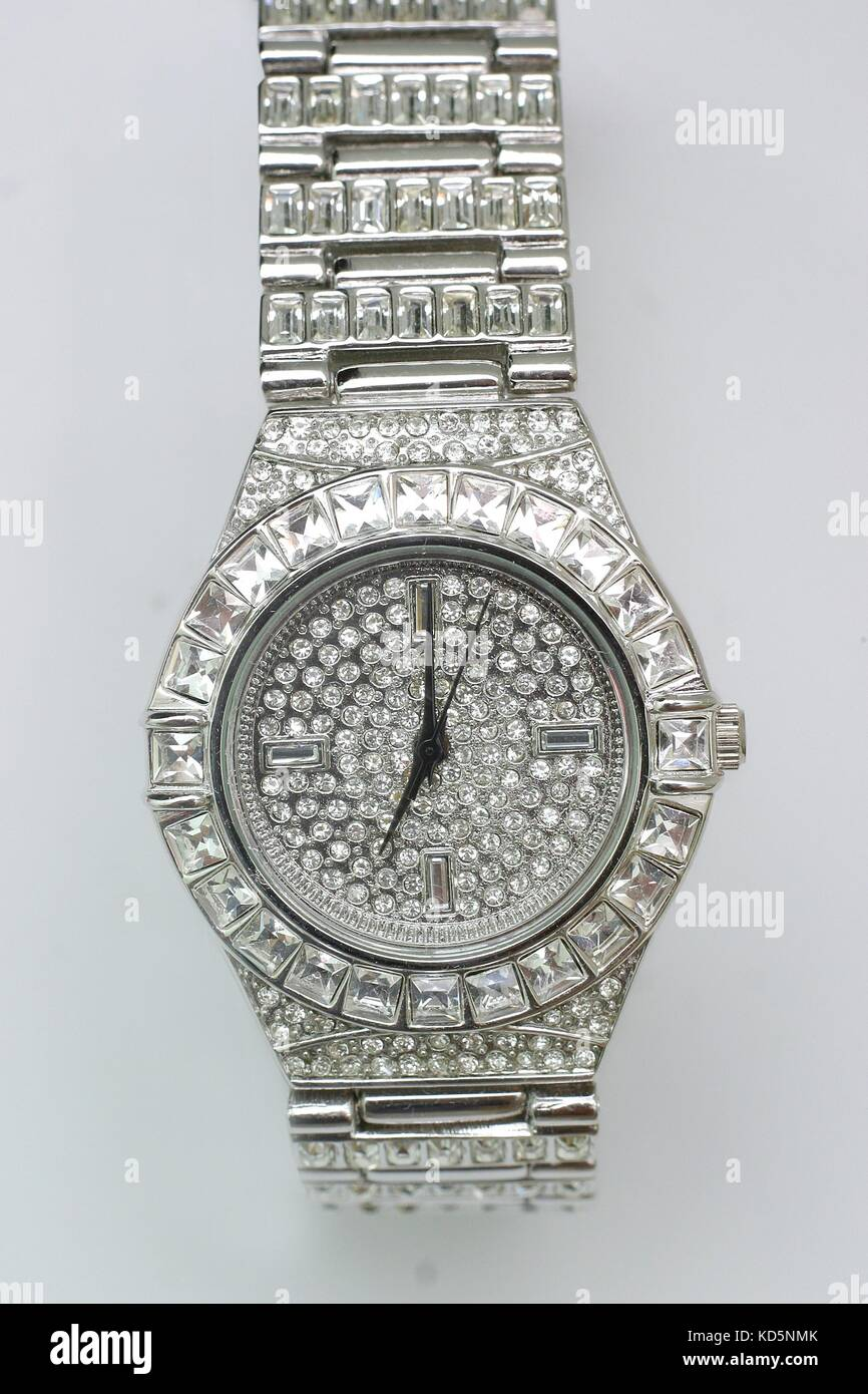 b010896f1440ef Watch encrusted with fake gold and diamonds, bling jewellery,jewellry,